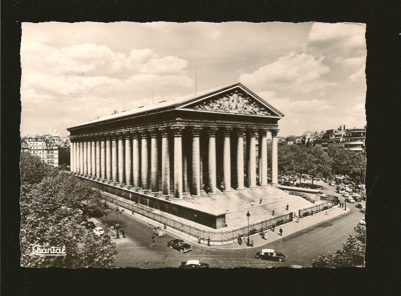 Paris Eglise de la Madeleine Chantal Real Photo Postcard