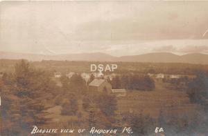 <A14> MAINE Me Real Photo RPPC Postcard 1914 ANDOVER Birdseye View