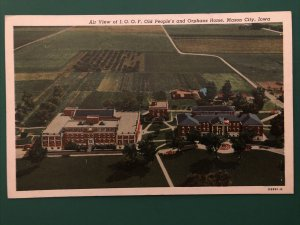 1920s AIR VIEW IOOF OLD PEOPLE ORPHANS HOME Mason City Iowa Unposted Postcard