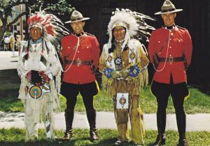 Indians & R.C.M.P. men , Canada , 50-70s