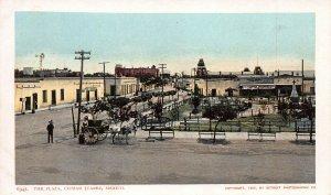 The Plaza, Ciudad Juarez, Mexico, 1902 Postcard, Unused, Detroit Photographic