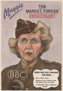 Margaret Thatcher as Vera Lynn Sweetheart Comic Postcard