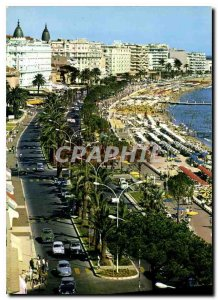 Old Postcard The French Riviera Cannes Croisette and the Beach