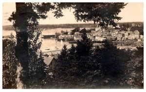 Maine Boothbay Harbor Aerial View , RPC