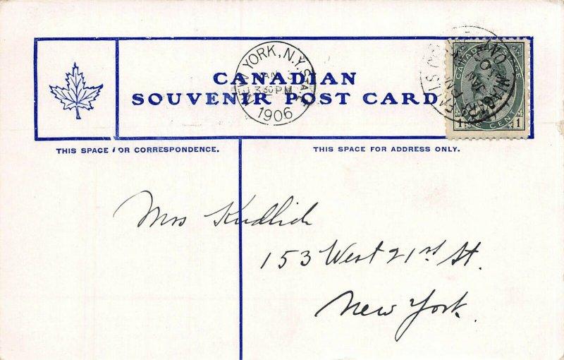 Niagara Falls, General View, Canadian Souvenir Postcard, Used in 1906