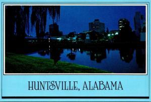 Alabama Huntsville Big Spring International Park At Night