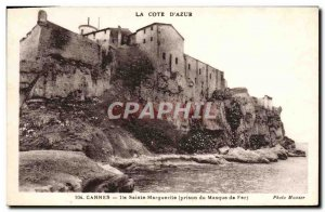 Postcard Old Cannes lle Sainte Marguerite prison of the Iron Mask