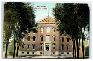 Postcard Montpelier Public School, VT G14