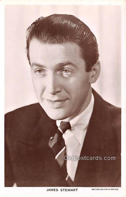 James Stewart Movie Star Actor Actress Film Star Postcard, Old Vintage Antiqu...