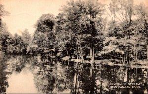 Connecticut New Canaan Silvermine Stream 1941