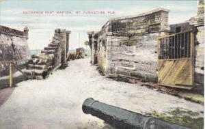 Entrance Fort Marion, Canon, St. Augustine, Florida, PU-1910