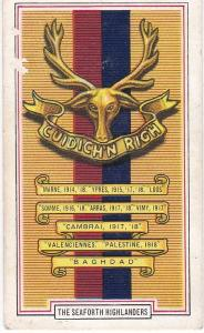 Cigarette Cards Gallaher ARMY BADGES No 23 The Seaforth Highlanders