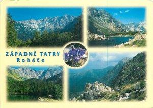 Post card Slovakia Western Tatras Rohace various mountain sights