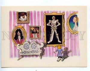 216975 RUSSIA Kokorin Andersen fairy tale Old house postcard