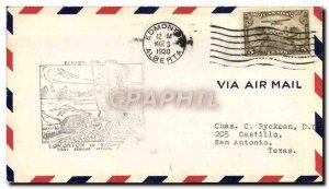 Letter Canada 1st Flight Edmonton Saskatoon Castor March 12, 1930