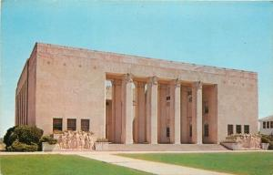 Jackson Mississippi~Soldiers Bas Relief~War Memorial Building~1960s Postcard