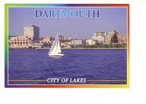 Skyline with Sailboat, City of Lakes, Dartmouth, Nova Scotia, The Book Room, ...