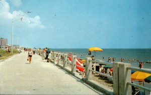Virginia Virginia Beach Boardwalk Scene 1956