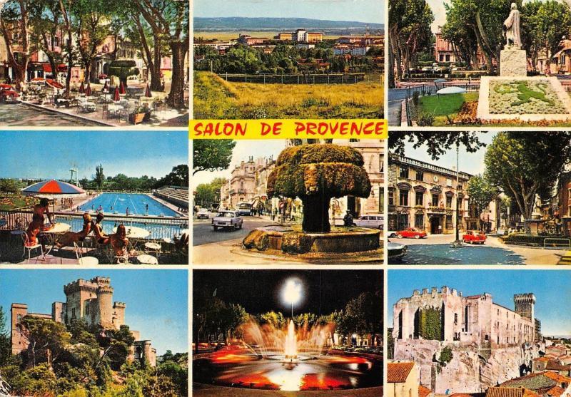 France Souvenir De Salon De Provence Multiviews Castle Panorama Pool
