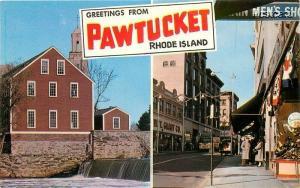 RI, Pawtucket, Rhode Island, Multi View, Main Street, Old Slater Mill