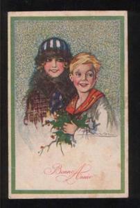 055716 Charming BELLE & Boy by BUSI vintage ART DECO