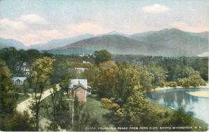 North Woodstock New Hampshire~Fern Cliff View of Homes~Road~1910 Postcard