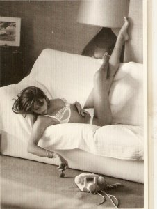 Dorothee. Nude. Risque Nice modern French Postcard. Continental size