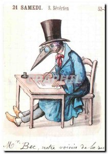 Postcard Modern Diary of Joseph Laugier 1891 Academy of Marseille