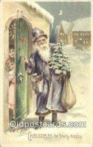 Hold To Light Santa Claus Unused very slight wer very close to grade 1