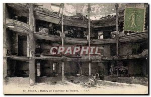 Old Postcard Reims Ruins of the theater interior