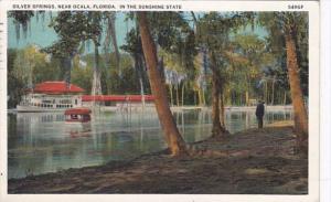 Florida Silver Springs River Scene 1933