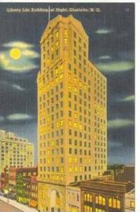 Liberty Life Building, Night, Charlotte, NC, 30-40s