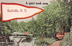 EARLVILLE NEW YORK-A QUIET NOOK NEAR THERE POSTCARD 1917 PSMK