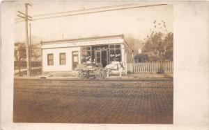 D47/ Occupational Real Photo RPPC Postcard c1910 Sydow Tin Shop Wagon 17