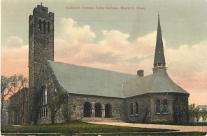 Goddard Chapel, Tufts College, Medford, Massachusetts, MA. Divided Back