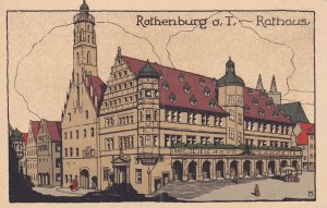 ROTHENBURG O.D. TAUBER, Bavaria, Germany, 1900-1910s; Rathaus