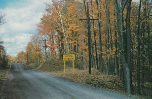 Sutton West Ontario Speed Limit Sign Canadian Postcard
