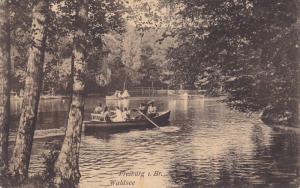 FREIBURG I. B., Baden-Wurttemberg, Germany, PU-1908; Waldsee, Row Boat