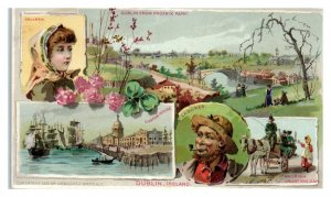 1891 Arbuckles Ariosa, Dublin, Ireland City Views Victorian Trade Card *VT20