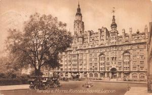 Imperial Hotel, Russell Square, London, England, Early Postcard, Used in 1924