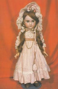 Doll By Jumeau of France Chichester Sussex Exhibition Postcard