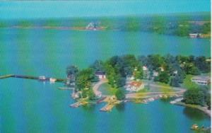 Canada Aerial View Callander Camp At Government Wharf Callander Ontario