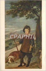 Postcard Modern principle baltasar carlos milking of Caza