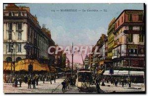 Old Postcard Marseille La Canebiere
