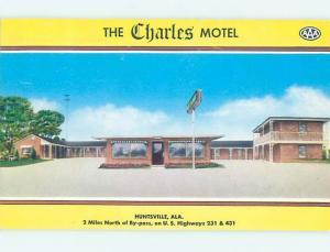 Pre-1980 MOTEL SCENE Huntsville Alabama AL hk1296