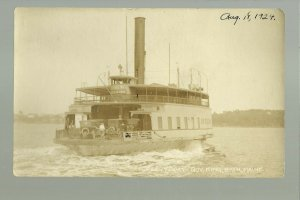 Bath MAINE RP 1924 FERRY BOAT Steamboat GOVERNOR KING nr Brunswick Boothbay ME