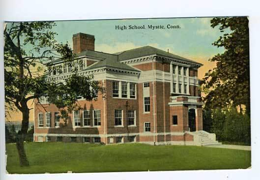 Mystic CT High School Postcard
