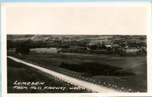 Canada - Saskatchewan, Lumsden from Highway 11 West   *RPPC