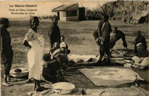CPA Visite au Camp senegalais MAROC (825441)