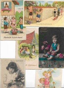 Happy Birthday Kids Fantasy Postcard Lot of 20  01.16
